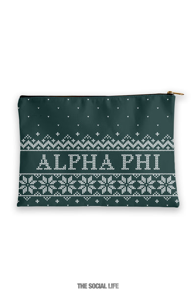 Alpha Phi Holiday Cosmetic Bag