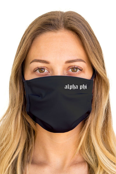 Alpha Phi OG Mask (Anti-Microbial)