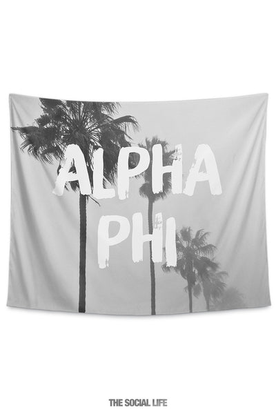 Alpha Phi Palm Mist Tapestry