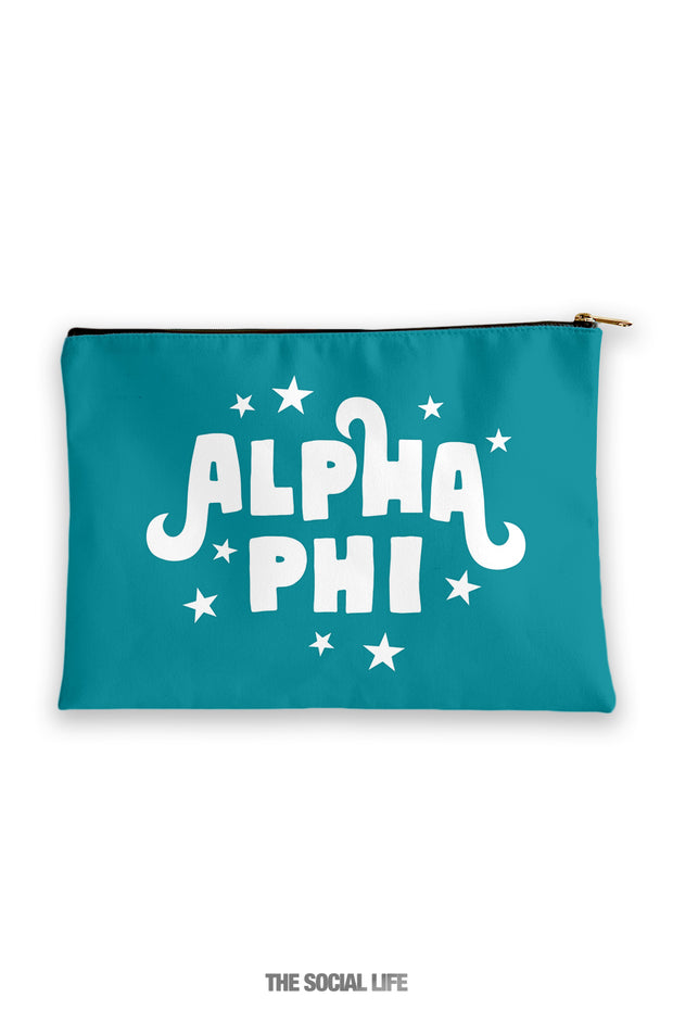 Alpha Phi Pixie Cosmetic Bag