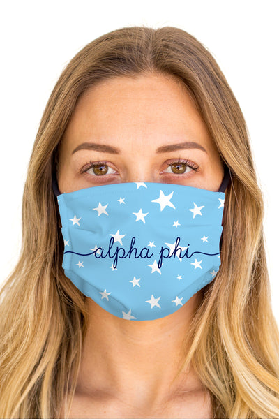 Alpha Phi Dreamy Mask (Anti-Microbial)