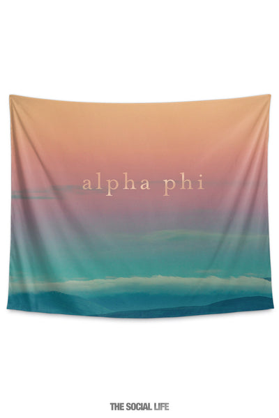 Alpha Phi Sunset Tapestry