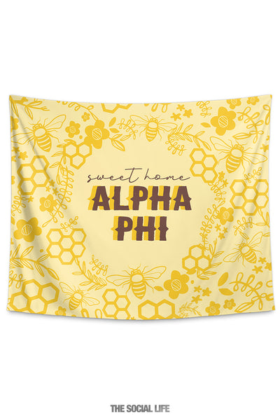 Alpha Phi Sweet Home Tapestry
