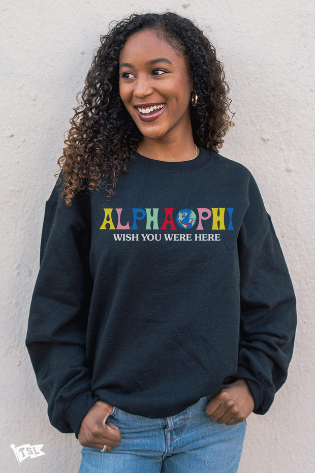 Alpha Phi Wish You Were Here Crewneck