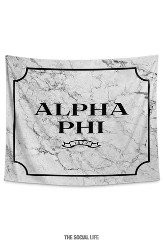 Alpha Phi Milano Marble Tapestry