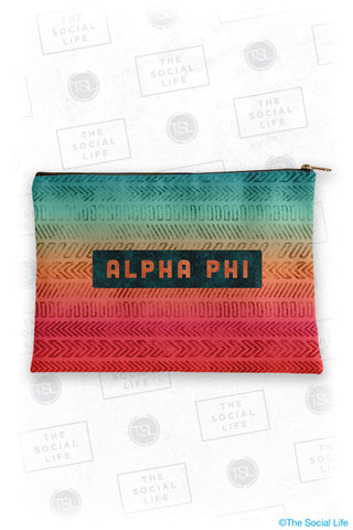 Alpha Phi Tribal Cosmetic Bag