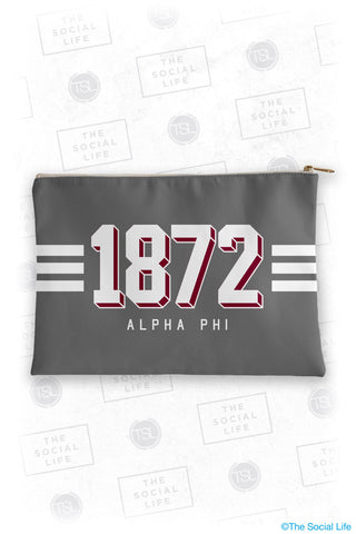 Alpha Phi Varsity Cosmetic Bag
