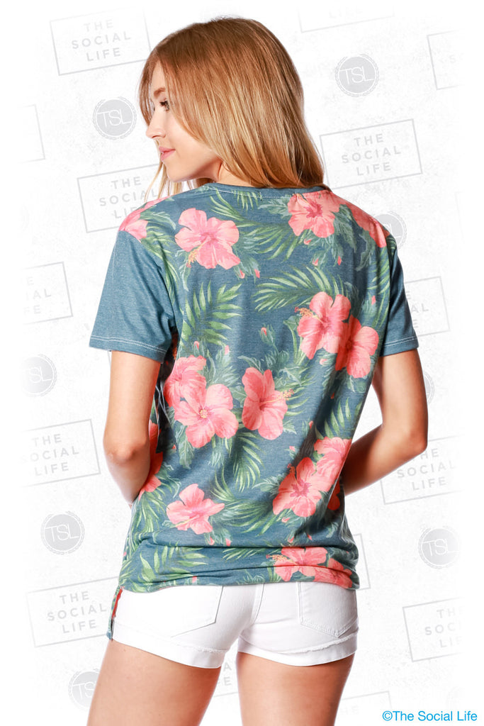 Alpha Phi Vintage Hawaiian Scoop Tee