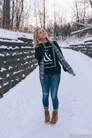 Love & APHI Crewneck Sweatshirt