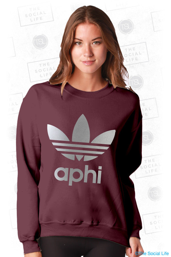 Alpha Phi Metallic Athletic Sweatshirt