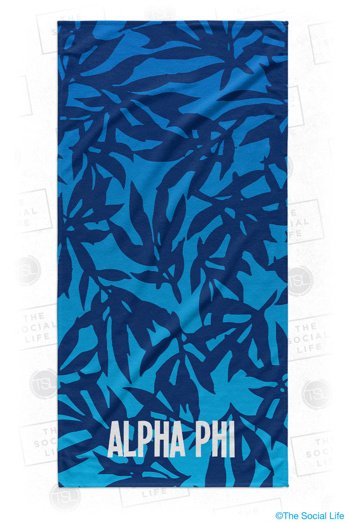 Alpha Phi Sea Leaf Beach Towel