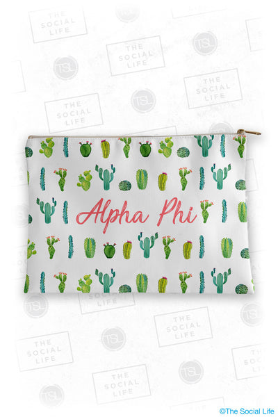 Alpha Phi Cacti Cosmetic Bag