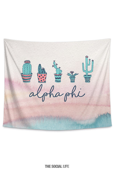 Alpha Phi Cacti Tapestry
