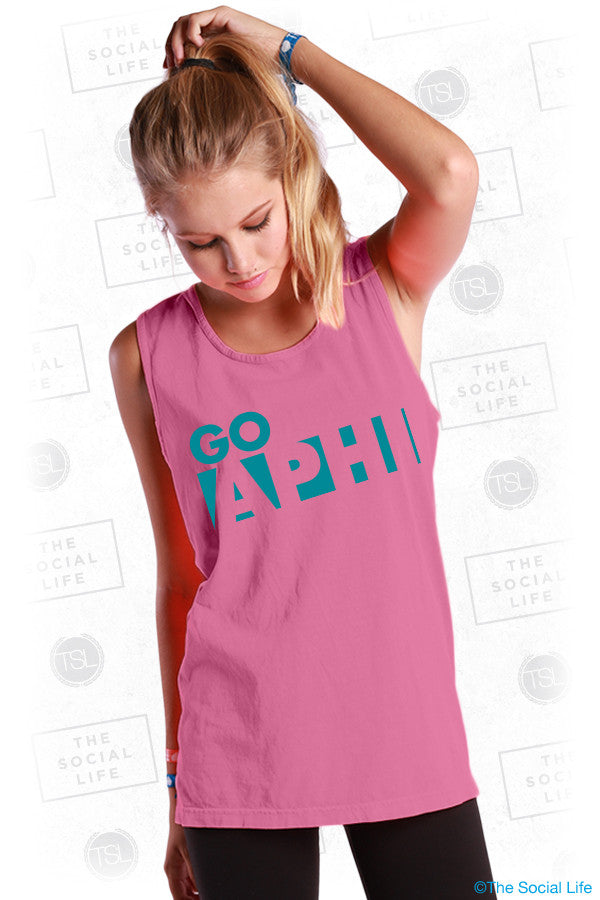Alpha Phi Color Block Tank