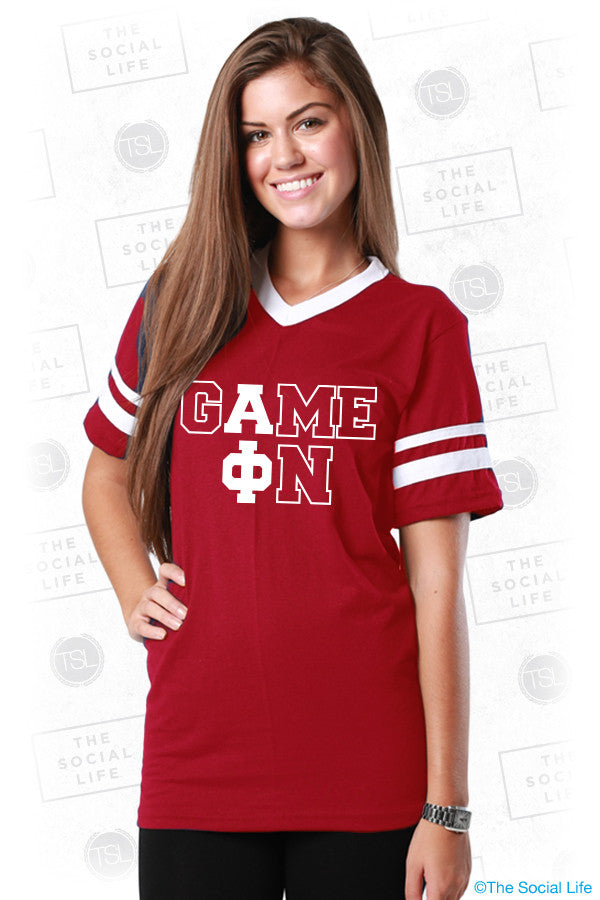 Alpha Phi Game On Jersey