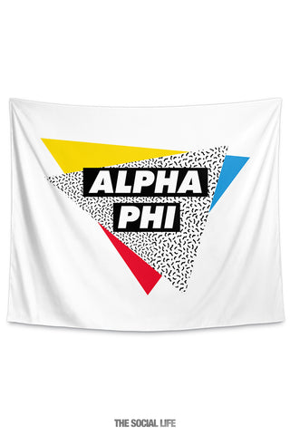 Alpha Phi Graphy Tapestry