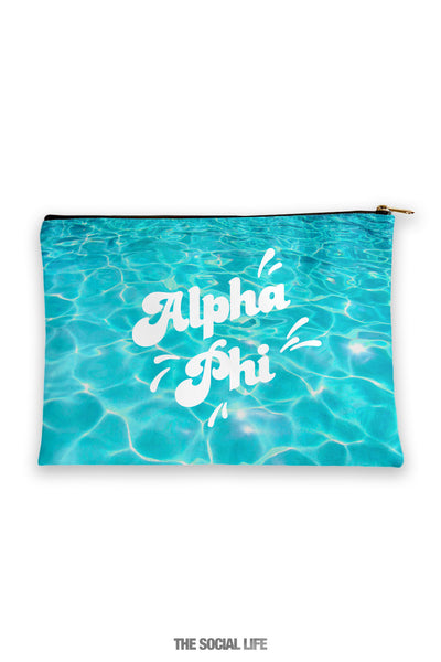 Alpha Phi Pool Water Cosmetic Bag