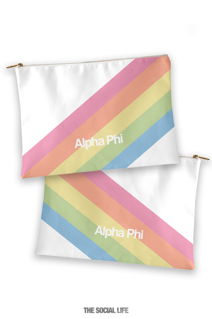 Alpha Phi Prism Cosmetic Bag