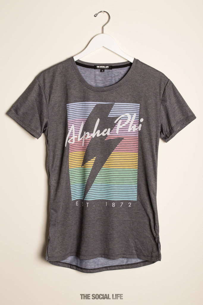 Alpha Phi RainBolt Scoop Tee