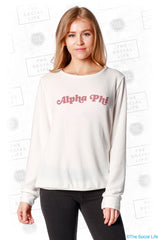 Alpha Phi Slouchy Pullover