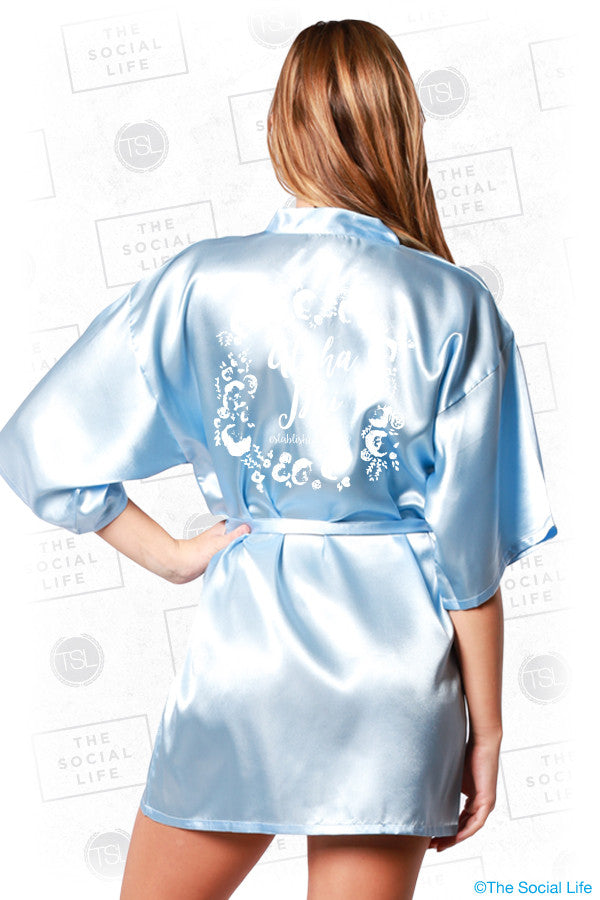 Alpha Phi Floral Silky Robe