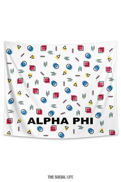 Alpha Phi Squigglies Tapestry