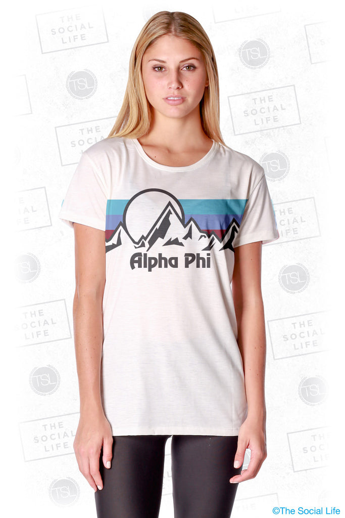 Alpha Phi Summit Scoop Tee