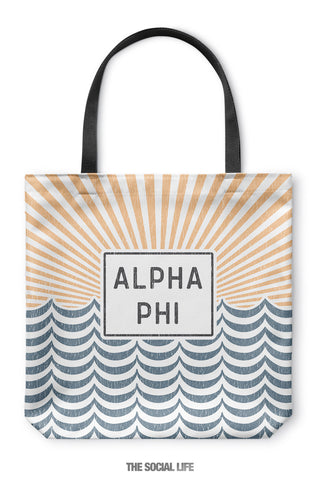Alpha Phi Sunshine Tote Bag