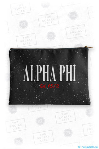 Alpha Phi Speckle Cosmetic Bag