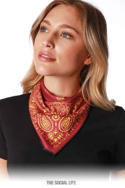 Game Day Bandana - Maroon / Gold