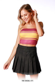 Game Day Tube Top (Reversible) - Black / Maroon / Gold
