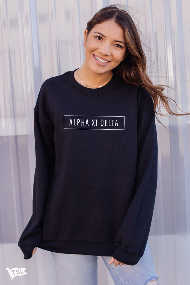 Alpha Xi Delta Blocked Crewneck