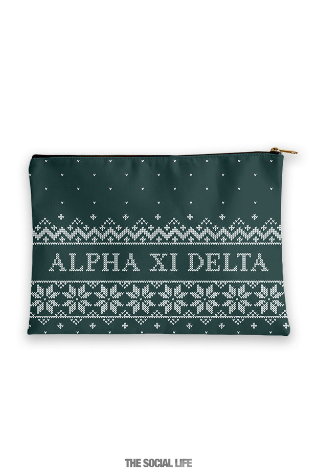 Alpha Xi Delta Holiday Cosmetic Bag