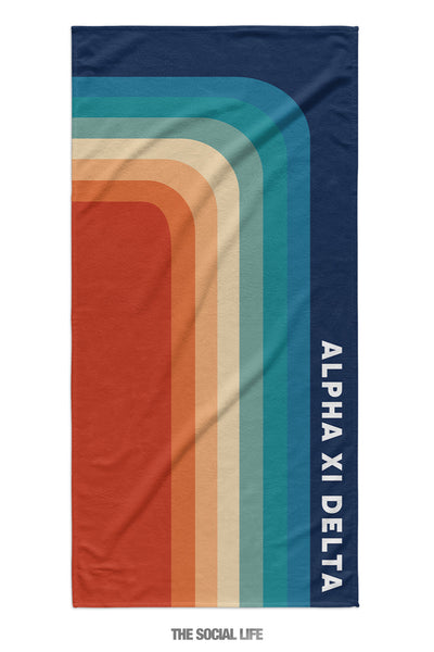 Alpha Xi Delta Far Out Towel