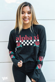 Alpha Xi Delta Rose Long Sleeve