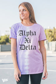 Alpha Xi Delta Split Dye Scoop Tee