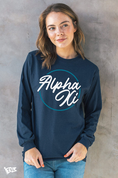 Alpha Xi Delta Stamp Long Sleeve