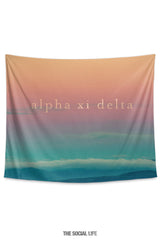 Alpha Xi Delta Sunset Tapestry