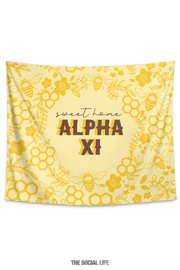 Alpha Xi Delta Sweet Home Tapestry