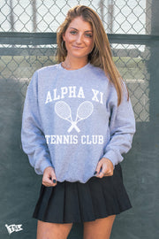 Alpha Xi Delta Tennis Club Crewneck