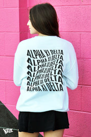 Alpha Xi Delta Warped Crewneck