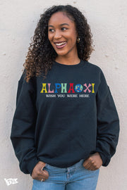Alpha Xi Delta Wish You Were Here Crewneck