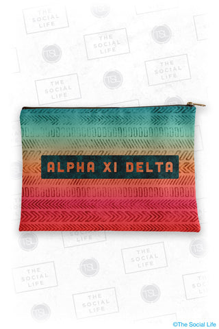 Alpha Xi Delta Tribal Cosmetic Bag