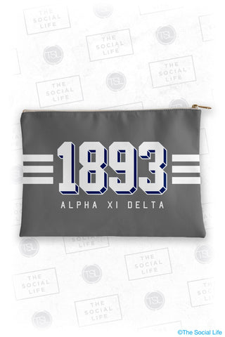 Alpha Xi Delta Varsity Cosmetic Bag