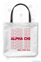 Alpha Chi Omega Thank You Tote Bag