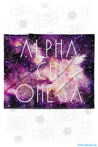 Alpha Chi Omega Galaxy Velvet Plush Blanket