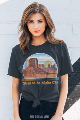 Alpha Chi Omega Born to Be Tee
