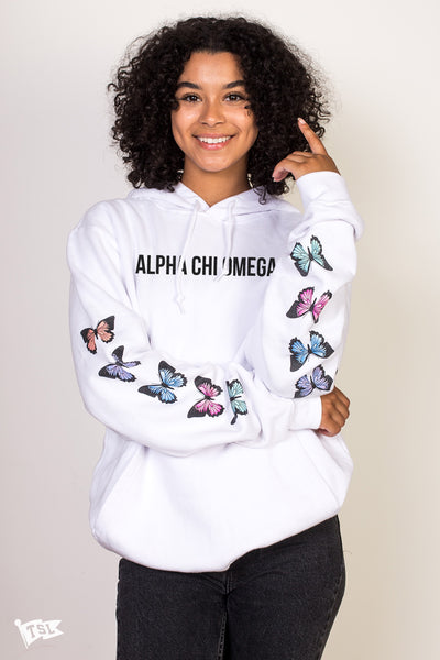 Alpha Chi Omega Butterfly Sleeve Hoodie