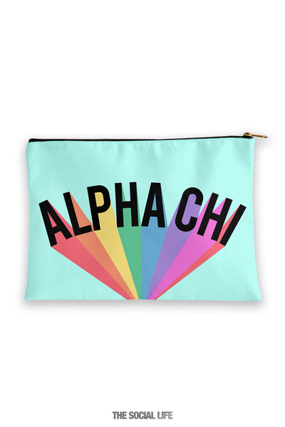 Alpha Chi Omega Colorblast Cosmetic Bag