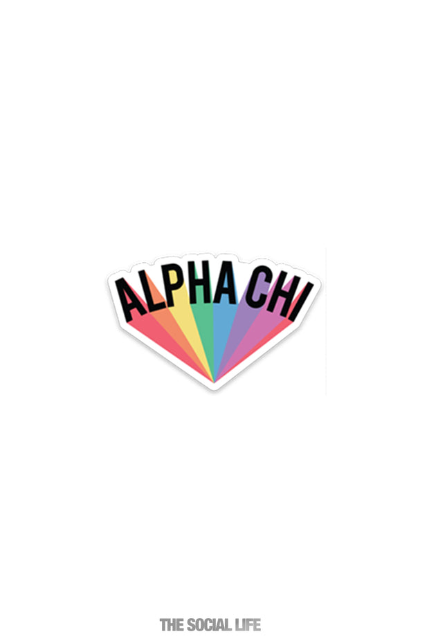 Alpha Chi Omega Sticker